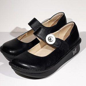 Alegria Women 6 Comfort Shoes Black Leather Paloma